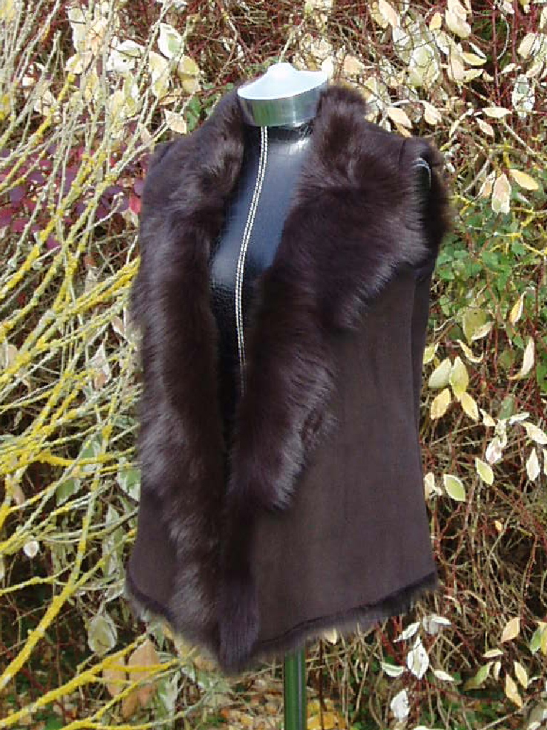 Dark Brown Toscana Shearling Gilet