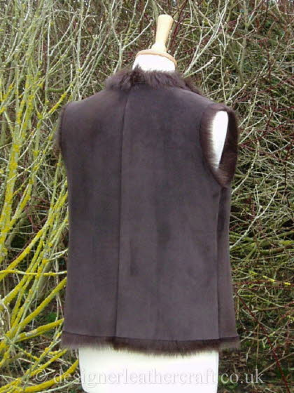 Back of the Brown Vest Style Gilet
