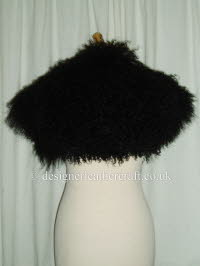 Black Mongolian Sheepskin Shrug pic 3